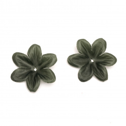 Fabric Leaf Branch for Decoration 85 mm green dark - 20 pieces