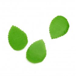 Листо текстил 32x22 мм зелено - 4 грама ~ 110 броя