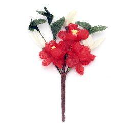 Flower Twig Textile 65x110 mm