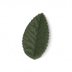 Листо текстил 40x25 мм зелено тъмно - 4 грама ~ 60 броя