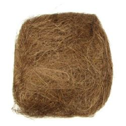 Artificial brown coconut grass for home decoration projects - 50 grams