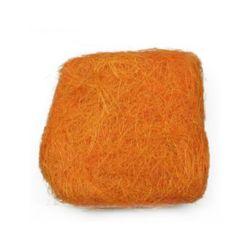 Iarbă de nucă de cocos  culoare portocaliu -50 grame