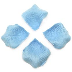 Paper Leaves for Decoration light blue -144 pieces