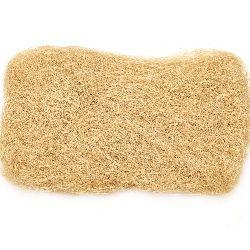 Fake coconut grass for  handmade kraft projects, ocher color - 50 grams