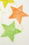 Гирлянд със звезда 8 броя цветен 168 см