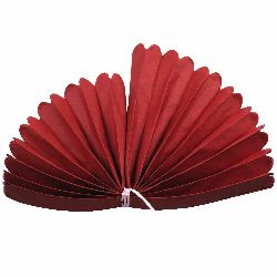 Tissue Paper Pom Pom for Decoration Dark Red  400x33mm