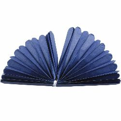 Tissue Paper Pom Pom for Decoration Blue 400x33mm