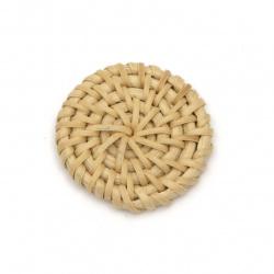 Element pentru decorare rattan rotund 31x6 mm culoare manuală naturală