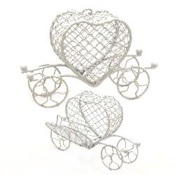 Metal chariot for decoration 100 x 60 mm