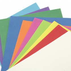EVA foam A4 sheet 20x30 cm for scrapbook projects & craft decoration 0.8~0.9 mm assorted colors - 10 sheets