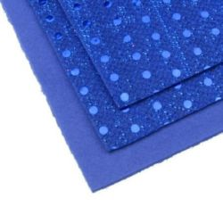 EVA Foam Blue Glossy Points, A4 Sheet 20x30cm 2mm DIY Scrapbooking & Decoration