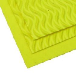 EVA материал /микропореста гума/ 2 мм А4 20x30 см на вълни жълт