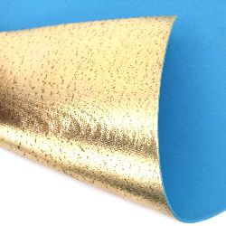 EVA foam A4 sheet 20x30 cm 2 mm for scrapbook ideas & craft decoration, metallic color gold