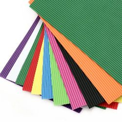 Corrugated EVA foam for various decoration A4 sheet 20x30 cm 2 mm, assorted colors - 10 sheets