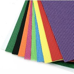 EVA embossed foam, A4 sheet 20x30cm 2 mm multicolor for DIY decoration - 10 sheets