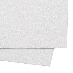 EVA материал /микропореста гума/ 2 мм А4 20x30 см с брокат бял