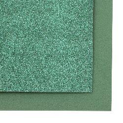 EVA Glitter Foam Green Dark, A4 Sheet 20x30cm 2mm DIY Craft, Decoration