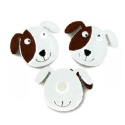Dog felt Adhesive 30x35 mm moving eyes 10 pcs.