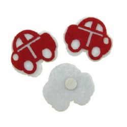 Car felt with glue 30x35 mm -10 pieces