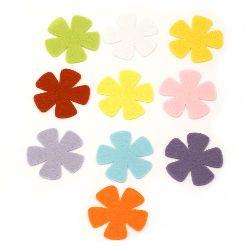 Λουλούδι τσόχα 52x2 mm διάφορα χρώματα -10 τεμάχια