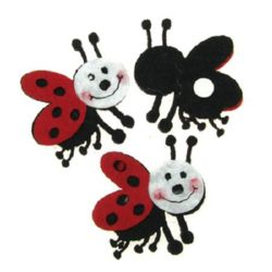 Ladybug felt with glue DIY Decoration  45 mm legs -10 pieces