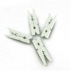 Wooden Clothespins 4x30 mm white -50 pieces