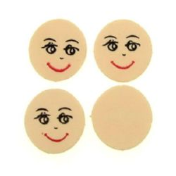 Κεφάλι με χαμόγελο 21 x 21 mm υλικό EVA 1 - 50 τεμάχια