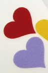 Felt Heart Embellishment Mixed Colors, 55x60x3mm 5pcs