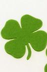 Детелина с дръжка от филц 65x3 мм зелена светло -5 броя