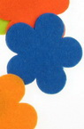 Flower Shape Felt Embellishment, Multicolored 57x3mm 5pcs