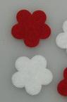 Floare de 20x2 mm albă și roșie în 10 bucăți