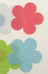 Flower Shape Felt Embellishment, Multicolored 57x1mm 5pcs