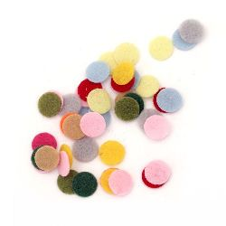 Round felt  DIY Decoration 10x1 mm mix colors -50 pieces