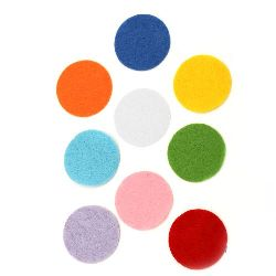 Round Felt Embellishment DIY Scrapbooking 35x1 mm mix colors 10 pieces