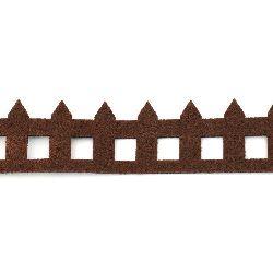 Gard de pâslă 4,5x50x0,3 cm maron