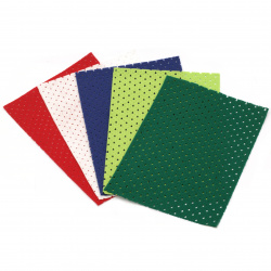 Хоби крафт филц щанцован FOLIA 20x30 см АСОРТИ цветове и форми -1 лист