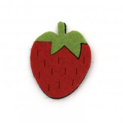 Φράουλα, τσόχα 45x35x4 mm -5