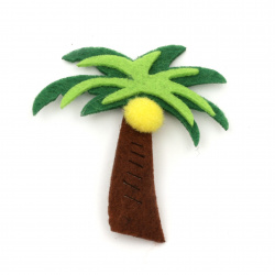 Palm felt  for decoration of scrapbook albums60x60 mm -10 pieces