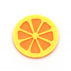 Orange felt 40x40 mm -10 pieces