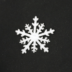 Snowflake felt  for decoration of scrapbook albums51x51 mm -10 pieces