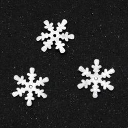 Snowflake felt 15x15 mm -20 pieces