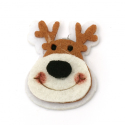 Deer felt  for decoration of scrapbook albums38x30 mm -10 pieces