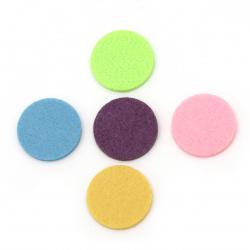 Pâslă rotundă 30x3 mm amestec culori -5 bucăți