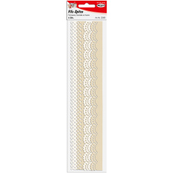 Лента филц за декорация бордюр 24~30x29.5 см Meyco бял и кремав АСОРТЕ  -4 броя