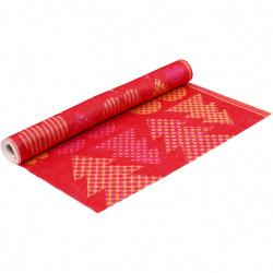 Дизайнерски филц Коледа 1.5 мм 45 см цвят оранжев и червен 180-200 гр. -1 метър