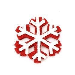Pâslă de fulgi de zăpadă cu lipici 32 mm -10 bucăți