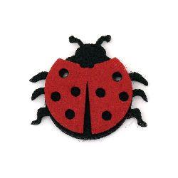 Felt Embellishment DIY Scrapbooking Ladybug felt with adhesive 39x43 mm -10 pieces