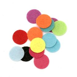Round felt  Embellishment DIY Scrapbooking 20x1 mm mix colors -20 pieces