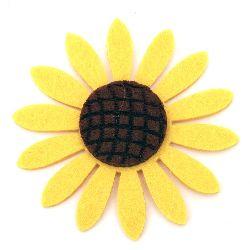 Ηλιοτρόπιο, τσόχα 77x6 mm κίτρινο -5 κομμάτια