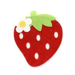 Pâslă de căpșuni 92x73x4 mm 3 straturi -5 bucăți